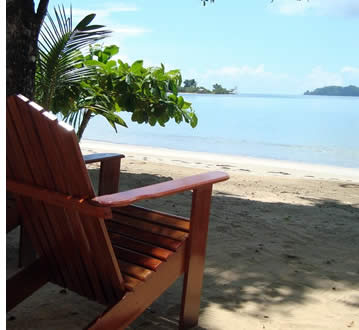 Big Creak Beach, juste en face de la villa à Bocas del Toro