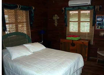 The air conditioned bedrooms are ample and spacious